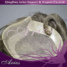 Fine welded mono filament lace hair units