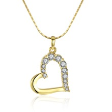 Fashion 24k Pure Gold Jewellery Gold Plated Heart Shaped Stone Pendant