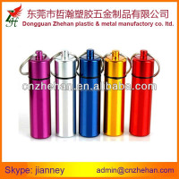Aluminium Tube keychains for Pills Container Bottle keychains
