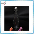 fancy hot selling clear decorative small water glass bottle wholesale