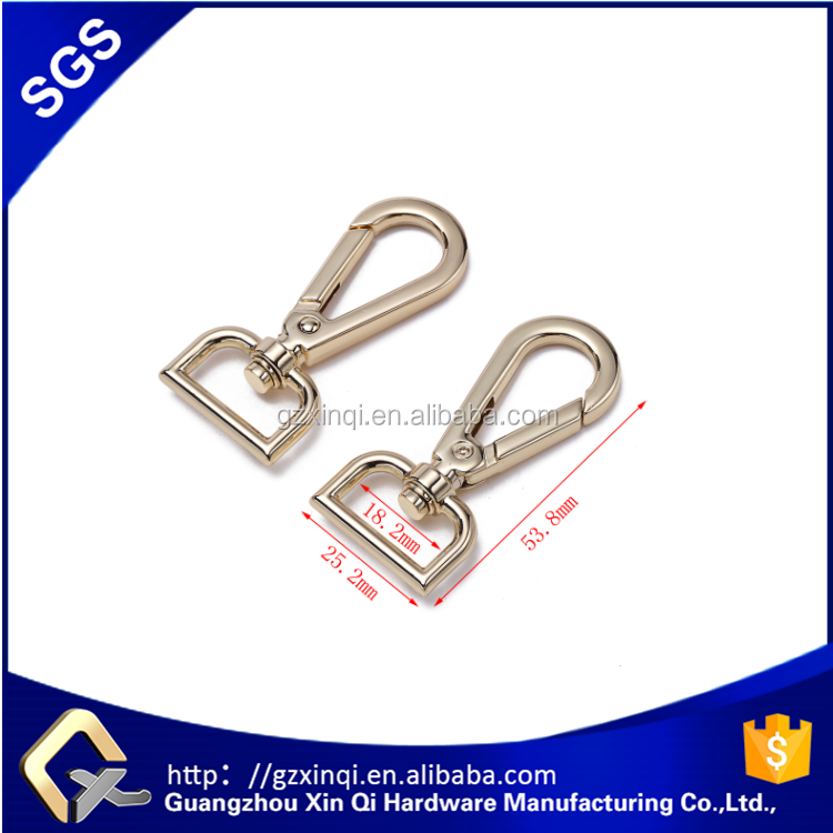 Hot sale customized zinc alloy material metal snap hook in bag hardware