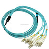 Telecommunication level LC MPO fiber patch cords OM4 OM3 coring glass fibre optic cables