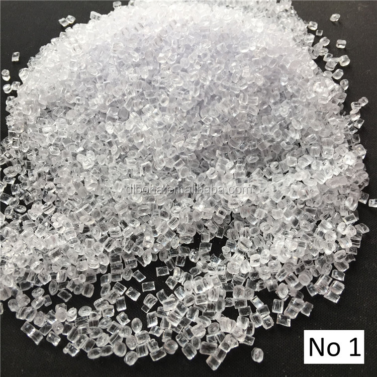 Transparent Heat resistant Anti-hydrolysis Polycarbonate resin / clear virgin PC granules for Food grade Water bottles