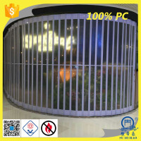 transparent polycarbonate folding door plastic folding door