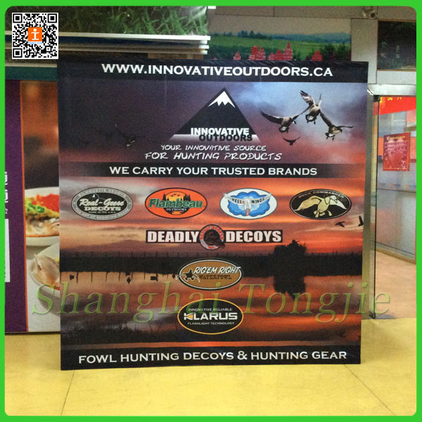 pop up display 3x3 with sublimated graphics printing