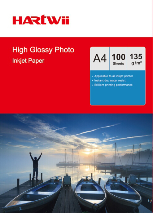 135g a4 glossy photo paper for inkjet printer