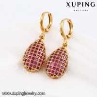 91516 fashion luxury earrings grape diamonds18k gold european style women earrings jewelry
