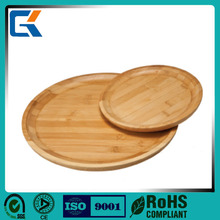 2015 best selling handmade elegant round bamboo serving tray for food