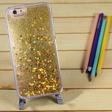 Transparent liquid glitter phone case for Apple iPhone 5/6/6 plus