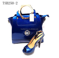 fashion design italian shoes and bag set /lady evening women sandals shoes matching hand bag