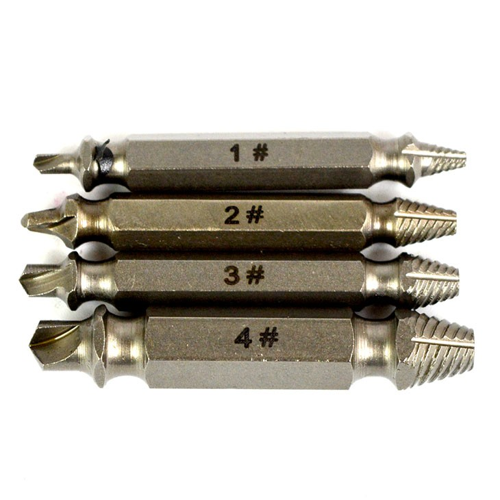 Screw Extractor Drill Bit Broken Damaged Bolt Guide Remover Speed Out Drill