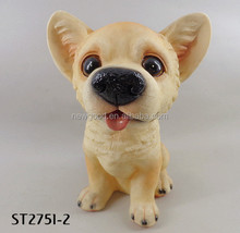 Garden Animal Statue Feature Puppy Sculpture Funny Resin Dog Statues Garden Animal