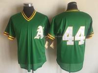 Men's Oakland Athletics Reggie Jackson Mitchell & Ness Green Cooperstown Mesh Batting Practice Jersey