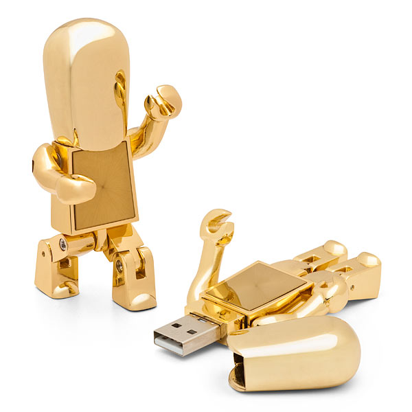 Metal Robot USB Flash Drive 8GB for Gift