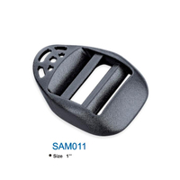 fashion black plastic ladder buckles for belt SAM011