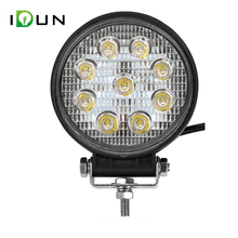4 Inch Round 27W LED Work Light Driving Lamp for Car Truck Offroad ATV UTV SUV Tractor Boat 4X4