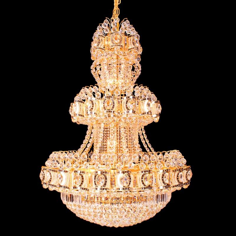 LED light hotel chandelier crystal big china suppliers