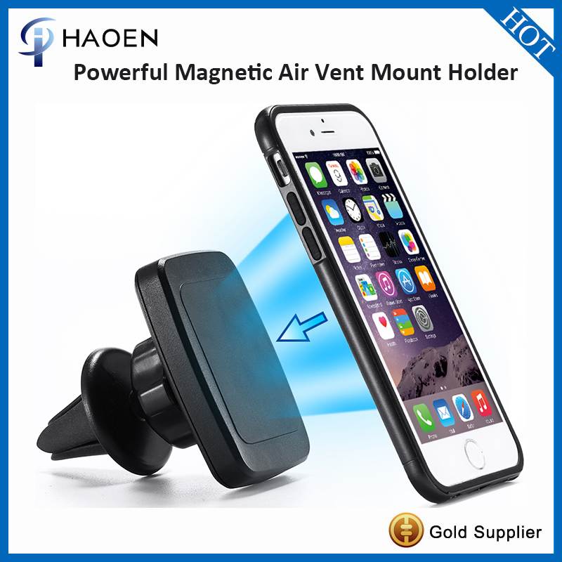 HAOEN NEW Magnetic Car Air Vent Mount Universal Vent Mobile Holder Portable Mini cell phone Mount Kickstand for iphone