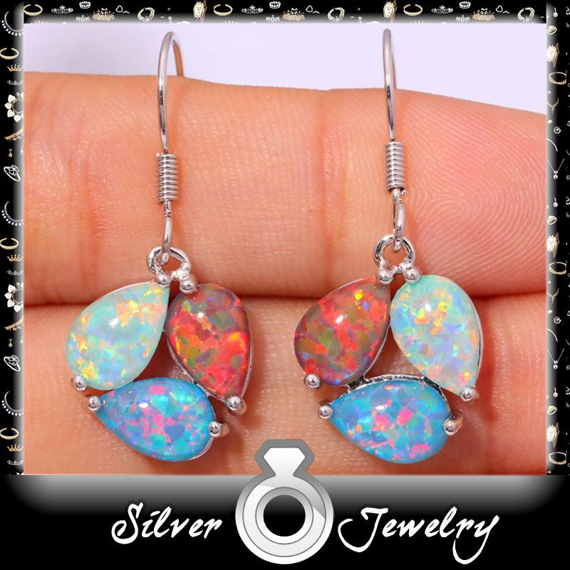 Opal Jewelry Factory Directly opal long dangle earrings