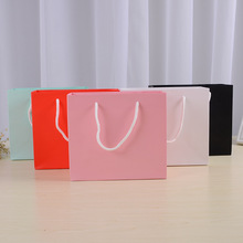 Pure Color High Quality Small paper bags With Handles