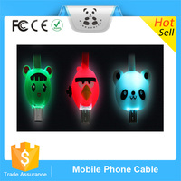 Smart Mini Cartoon Noodles USB Charging LED Micro Cable&Data Sync Cabal Multi Color Available