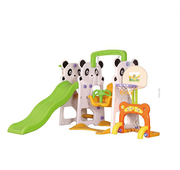 Colorful plastic indoor slide with baby swing set G224K