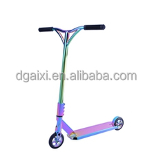 Electroplated Rainbow Adult Professional Freestyle Complete Comp End Neo Chrome Pro Stunt Scooter