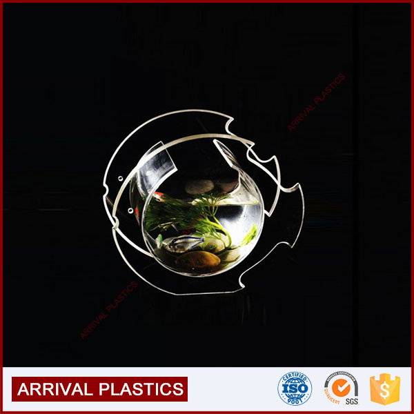 wholesale customized transparent acrylic mini desktop fish tank