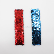 5.5*21cm Big Size Sequin Slap Bracelet Two Tone Promotion Sequin Charm Mermaid Snap Bracelet