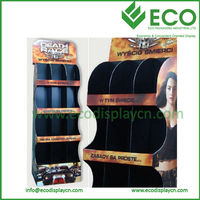 Store Advertising Corrugated POP Display for Book Magazine Greeting Cards CD, POP Display Rack