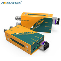 AVMATRIX 3G-SDI Fiber Optic Transmitter and Receiver with 20KM transmission