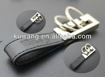 2013 promotional leather keychain make in china