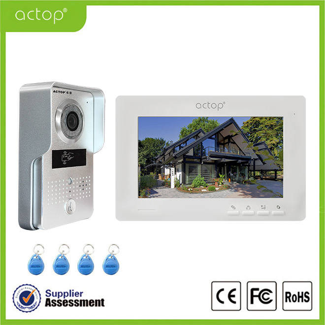 Wifi Intercom System,Wifi Doorbell Camera For Apartments Motion Detector Battery