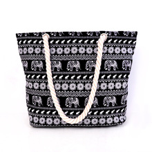 NEW flower print canvas Beach bag women handbags large capacity shoulder bag for girl women designer handbags high quality 2016