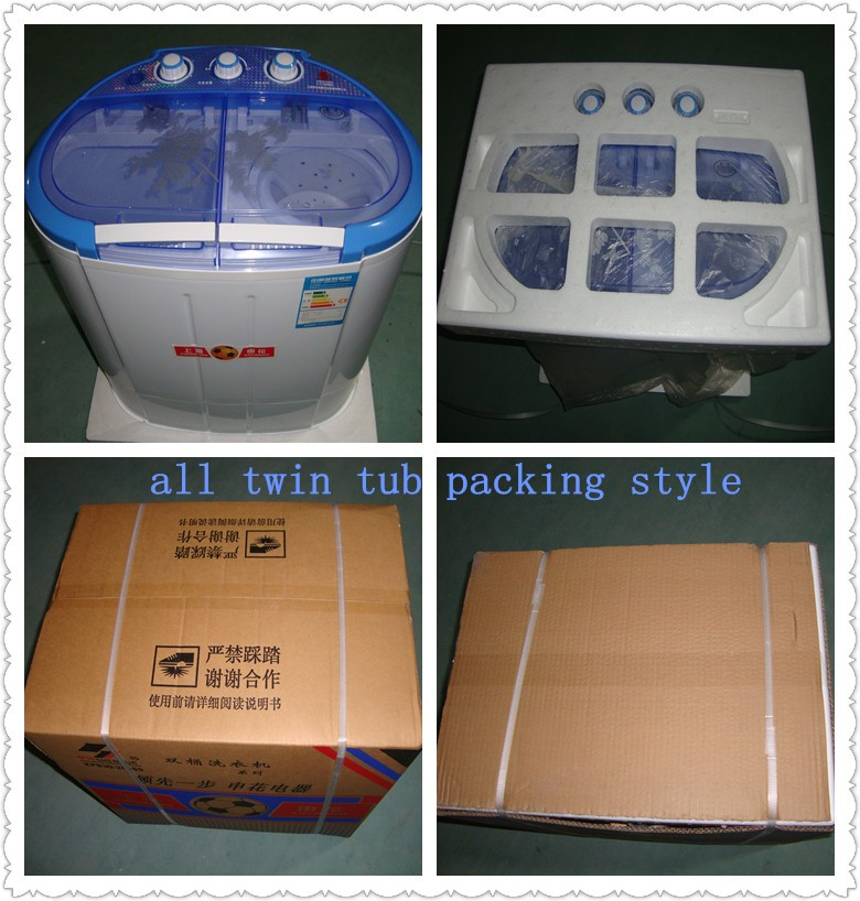 OEM Very hot low nois mini double/twin tub 3.0kg washing machine