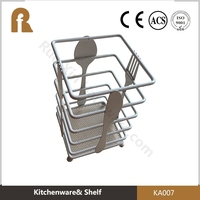 kitchen tableware metal cutlery holder powder coating kitchen accessories with fork and knife design