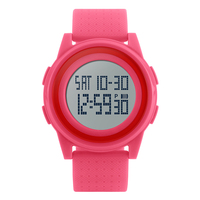 Factory direct silicone led waterproof advanced digital sports watch chronograph relojes