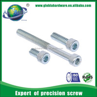 Anodized aluminum hex socket head cap screws