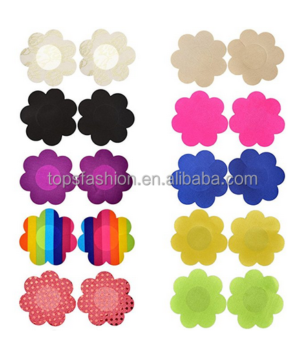 Non Woven Adhesive No Show Breast Petal Pasties Disposable Nipple Covers