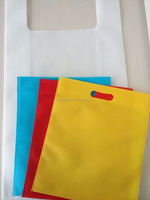 Eco-friendly die cut nonwoven recycle shopping bag,OEM orders are welcome