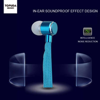 New colorful promotional custom in-ear stereo plastic earbuds earpieces for Samsung