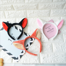 The new cartoon ears headband cute fox ear hair hoop performance headdress