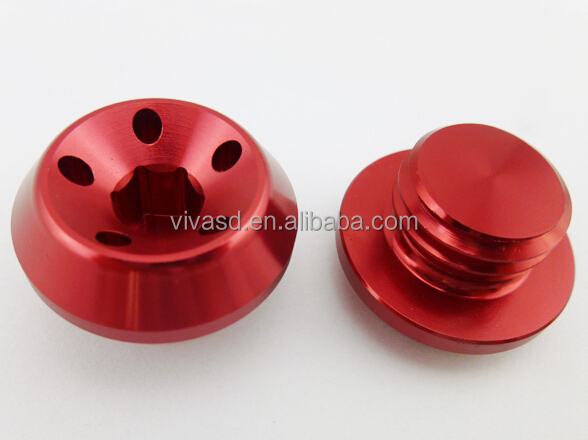 Custom CNC machinery parts Gold anodize aluminum parts