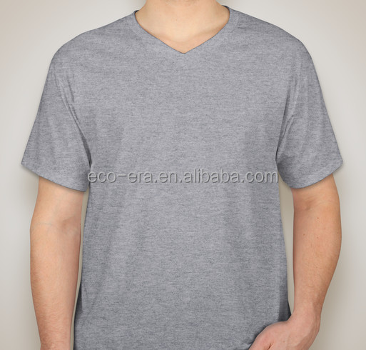 Stock Lot Cheap Bulk V-neck T-shirts Mens Clothes Custom Cut Buy Direct From China Supplier