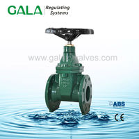 BS NRS manual cast rubber seat gate valve flange gate valve for water supply