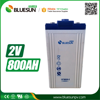 Bluesun deep cycle gel marine 2v 800ah battery prices with ISO CE ROHS