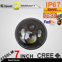 Cheap! Classic Jeeps headlight, car accessories led work light 70W 7 inch round led headlight 12V 24V