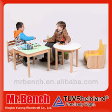 Solid wood kids folding table and chair set