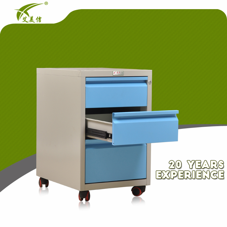 new product under desk movable steel drawer file cabinet