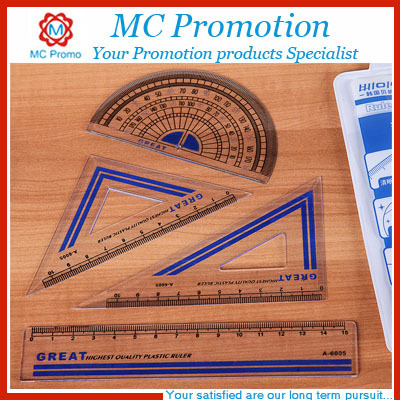 plastic triangular scale ruler